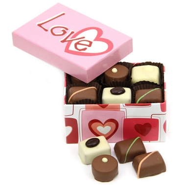Love Hearts Mixed Chocolate Box