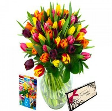 Mixed Tulips Gift Set delivery UK