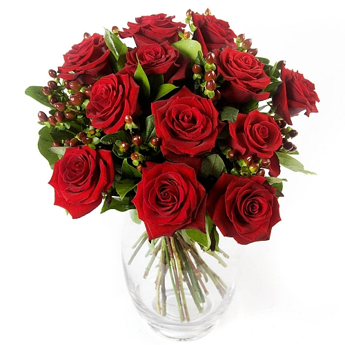 Twelve Red Roses Delivery to UK