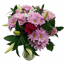Pretty in Pink Bouquet Delivery to UK