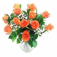 Dozen Orange Roses delivery to UK [United Kingdom]