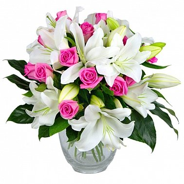 Lilies and Rose Joy delivery to UK [United Kingdom]