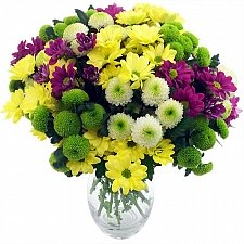 Chrysanthemum Craze Bouquet Delivery to UK