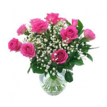 One Dozen Pink Roses Delivery UK