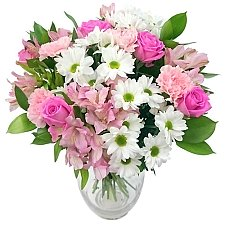 Precious Pink and White Bouquet Bouquet delivery UK