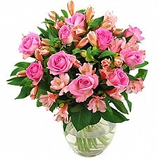 Pink Rosmeria Bouquet delivery to UK