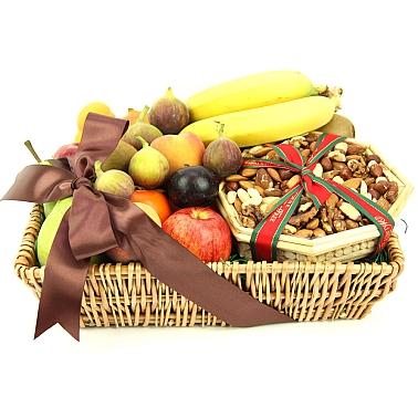 Gourmet Fruit 'N' Nut Basket delivery to UK [United Kingdom]