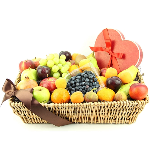Heartfelt Chocolates Fruit Basket delivery to UK [United Kingdom]