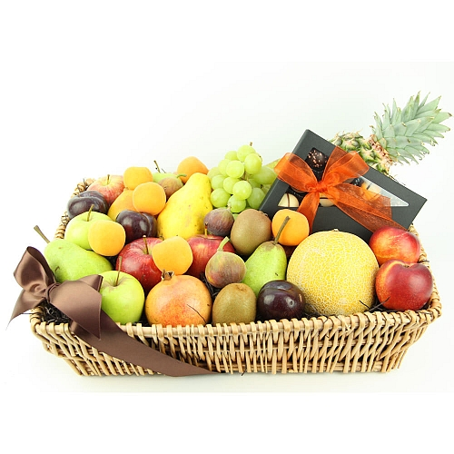 Sweet Celebration Fruit Basket delivery to UK [United Kingdom]