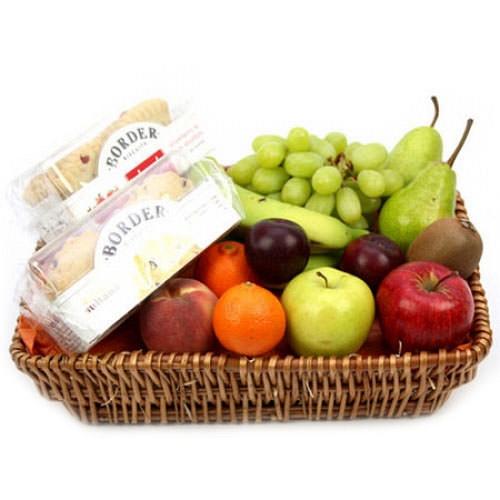 Tea Time Fruit Basket delivery to UK [United Kingdom]