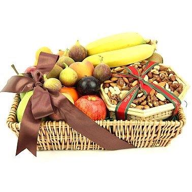 Gourmet Fruit 'N' Nut Basket delivery to UK [United Kingdom]