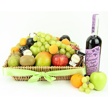 Fruit Lux Hamper Basket delivery to UK [United Kingdom]