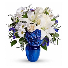 Beautiful in Blue Bouquet delivery to United States