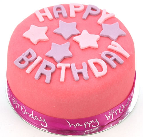 Happy Birthday Pink Cake By Post