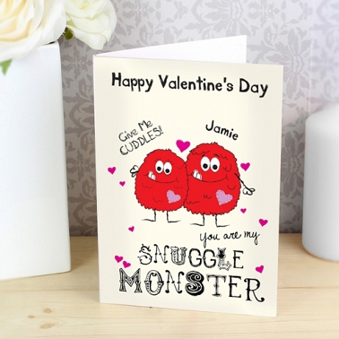 Personalised Snuggle Monster Card delivery to UK [United Kingdom]