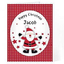 Personalised Spotty Santa Card delivery to UK [United Kingdom]