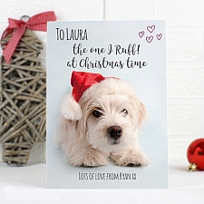 Personalised Rachael Hale Terrier Christmas Card delivery to UK [United Kingdom]