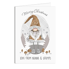 Personalised Scandinavian Christmas Gnome Card delivery to UK [United Kingdom]