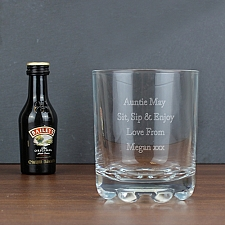 Personalised Tumbler & Baileys Miniature Set delivery to UK [United Kingdom]