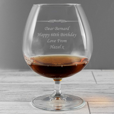 Personalised Decorative Brandy Glass delivery to UK [United Kingdom]