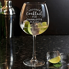 Personalised Another Cocktail Balloon Glass delivery to UK [United Kingdom]