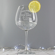 Personalised Christmas Gin Balloon Glass to UK