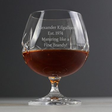 Personalised Cut Crystal Small Brandy Glass delivery to UK [United Kingdom]