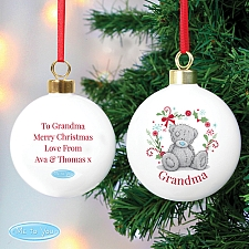 Personalised Me To You 'For Nan, Grandma, Mum' Christmas Bauble UK [United Kingdom]