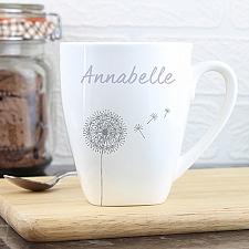 Personalised Dandelion Latte Mug