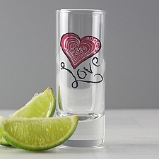 Personalised Love Shot Glass delivery to UK [United Kingdom]