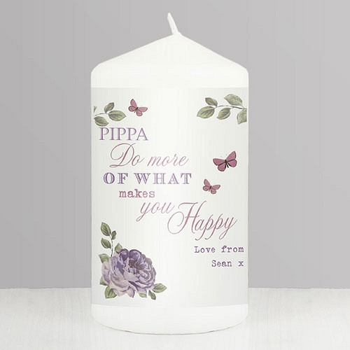 Personalised Secret Garden Candle delivery to UK [United Kingdom]