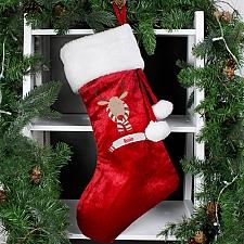 Personalised Retro Reindeer Luxury Stocking delivery to UK [United Kingdom]