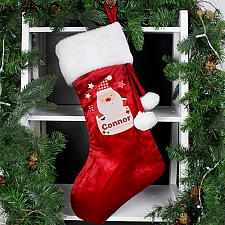 Personalised Pocket Santa Luxury Stocking delivery to UK [United Kingdom]