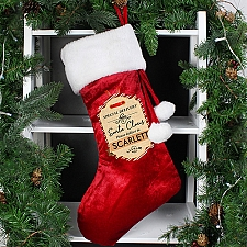 Personalised Special Delivery Luxury Stocking delivery to UK [United Kingdom]