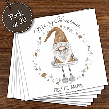 Personalised Scandinavian Christmas Gnome Pack of 20 Cards delivery to UK [United Kingdom]