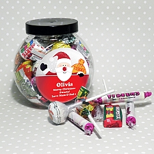 Personalised Santa Round Sweet Jar delivery to UK [United Kingdom]