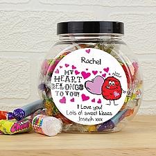 Personalised Love Monster Sweet Jar