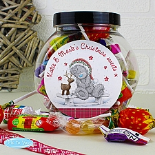Personalised Me To You Reindeer Sweet Jar delivery to UK [United Kingdom]