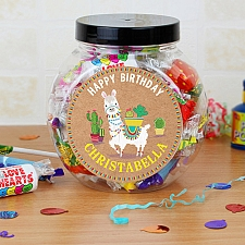 Personalised Llama Sweet Jar Delivery to UK