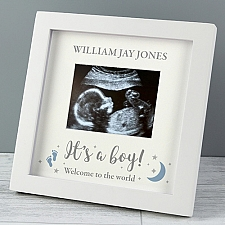 Personalised 'It's A Boy' 4 x 3 Baby Scan Frame Delivery to UK