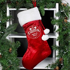 Personalised Christmas Wishes Luxury Stocking delivery to UK [United Kingdom]