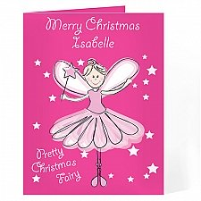 Personalised Christmas Fairy Card delivery to UK [United Kingdom]