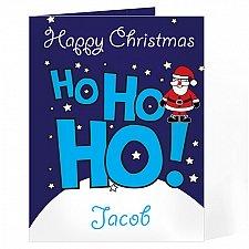 Personalised Ho Ho Ho Santa Card delivery to UK [United Kingdom]