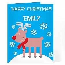 Personalised Rudolph Card delivery to UK [United Kingdom]