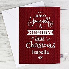 Personalised Merry Little Christmas Card delivery to UK [United Kingdom]