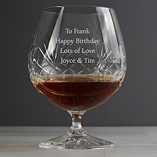 Personalised Cut Crystal Large Brandy Glass delivery to UK [United Kingdom]