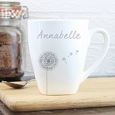 Personalised Dandelion Latte Mug