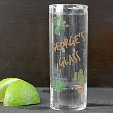 Personalised Cactus Shot Glass delivery to UK [United Kingdom]