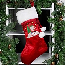 Personalised Tartan Santa Luxury Stocking delivery to UK [United Kingdom]