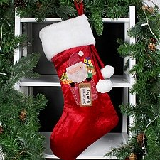 Personalised Santa Claus Luxury Stocking delivery to UK [United Kingdom]